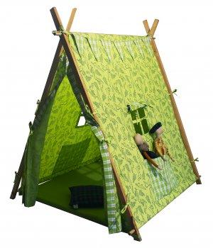 plat tent -crocodile with checks